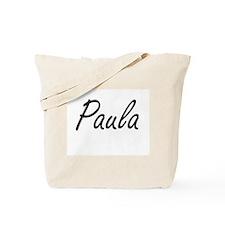 Paula artistic Name Design Tote Bag