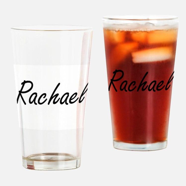 Rachael artistic Name Design Drinking Glass