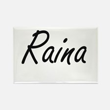 Raina artistic Name Design Magnets