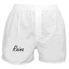 Raina artistic Name Design Boxer Shorts