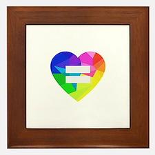 Love Wins Framed Tile