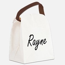 Rayne artistic Name Design Canvas Lunch Bag