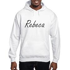 Rebeca artistic Name Design Hoodie Sweatshirt