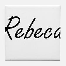 Rebeca artistic Name Design Tile Coaster