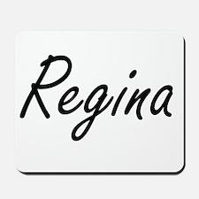 Regina artistic Name Design Mousepad