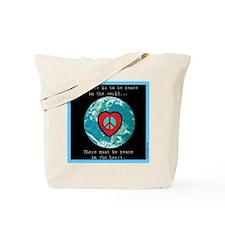 World Peace Heart Tote Bag