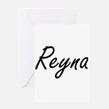 Reyna artistic Name Design Greeting Cards