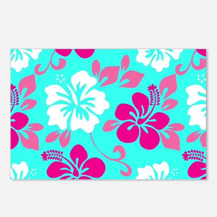 Cyan-magenta-white Hawaii Postcards (Package of 8)