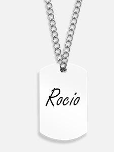 Rocio artistic Name Design Dog Tags