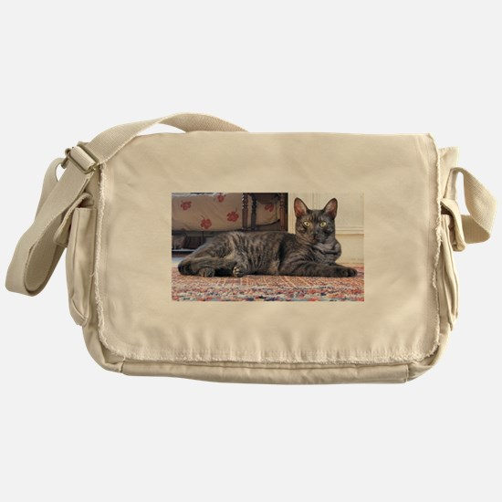 egyptian mau laying Messenger Bag