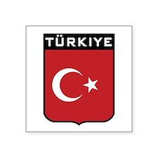 "Funny Turkish Square Sticker 3"" x 3"""