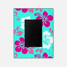 Cyan-magenta-white Hawaiian hibiscus Picture Frame