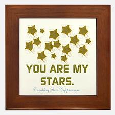 YOU ARE MY STARS. Framed Tile