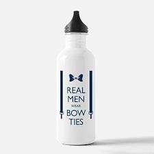 Real Men Wear Bow Ties Water Bottle
