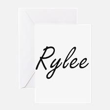 Rylee artistic Name Design Greeting Cards