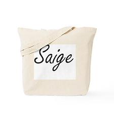 Saige artistic Name Design Tote Bag