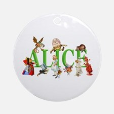 Alice and Friends in Wonderland, Ornament (Round)