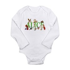 Alice and Friends in W Long Sleeve Infant Bodysuit
