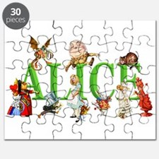 Alice and Friends in Wonderland, including Puzzle