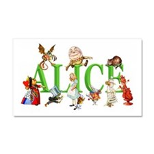 Alice and Friends in Wonderland Car Magnet 20 x 12