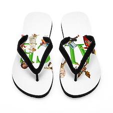 Alice and Friends in Wonderland, includ Flip Flops