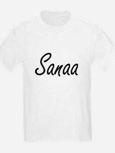 Sanaa artistic Name Design T-Shirt