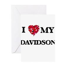 I Love MY Davidson Greeting Cards