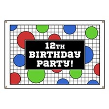 12th Birthday Party Banner
