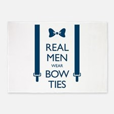 Real Men Wear Bow Ties 5'x7'Area Rug