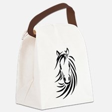 Black Horse Canvas Lunch Bag