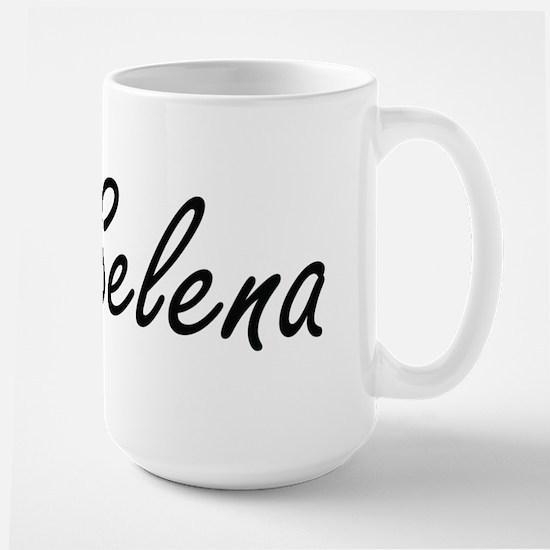 Selena artistic Name Design Mugs