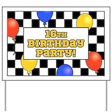 16th Birthday Party Yard Sign