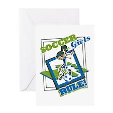 Soccer Girls Rules Greeting Card