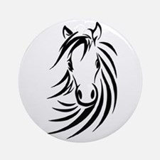 Black Horse Ornament (Round)