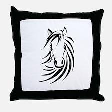 Black Horse Throw Pillow