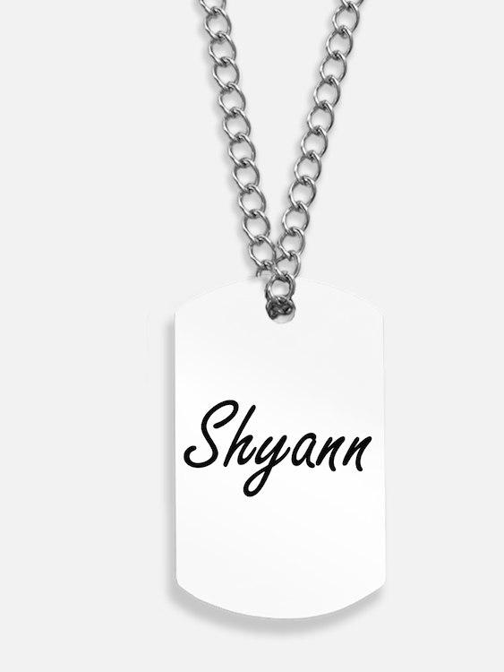 Shyann artistic Name Design Dog Tags