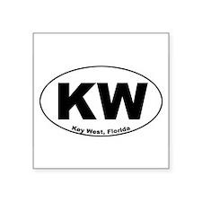 """Unique Key west Square Sticker 3"""" x 3"""""""