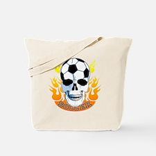 Soccer Skull Tote Bag
