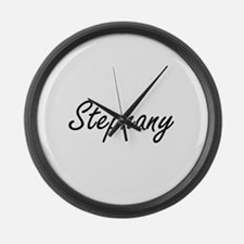 Stephany artistic Name Design Large Wall Clock