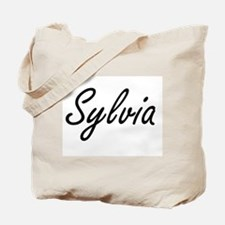 Sylvia artistic Name Design Tote Bag