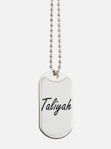 Taliyah artistic Name Design Dog Tags