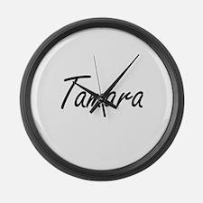 Tamara artistic Name Design Large Wall Clock
