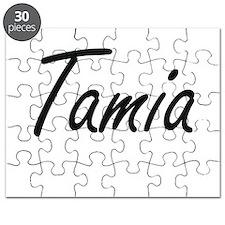 Tamia artistic Name Design Puzzle