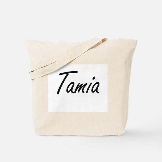 Tamia artistic Name Design Tote Bag