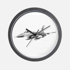 F-16 Pencil Prints by RKSmith Wall Clock