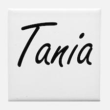 Tania artistic Name Design Tile Coaster
