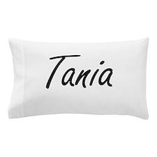 Tania artistic Name Design Pillow Case