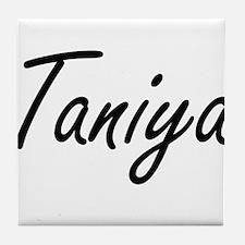 Taniya artistic Name Design Tile Coaster