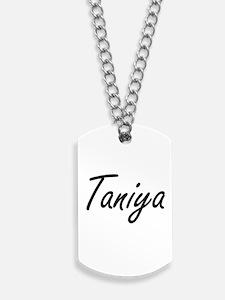 Taniya artistic Name Design Dog Tags