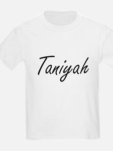 Taniyah artistic Name Design T-Shirt
